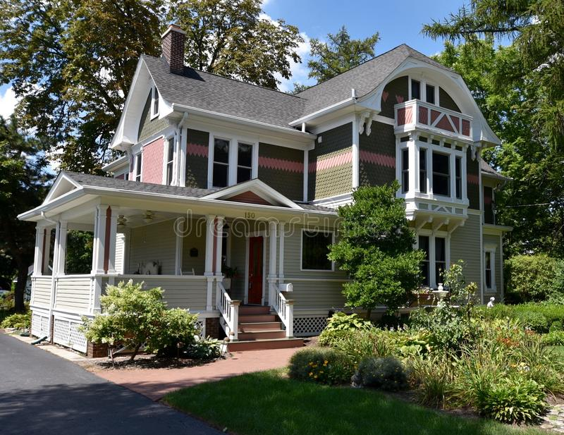 Lombard Victorian House royalty free stock photography