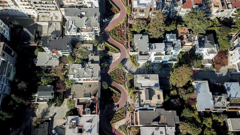 Lombardu San Fransisco uliczny usa zdjęcia royalty free