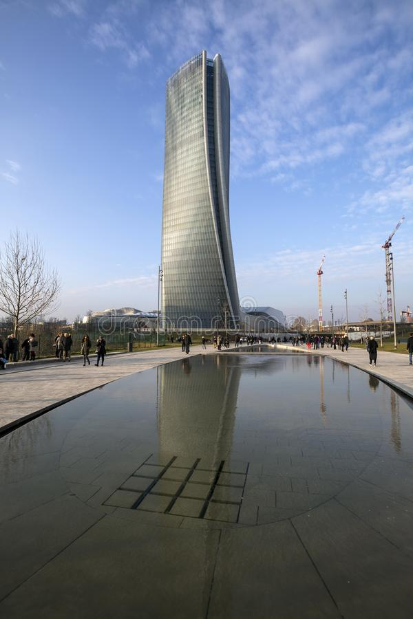 Lombardy - Milão - Itália - CityLife fotos de stock royalty free