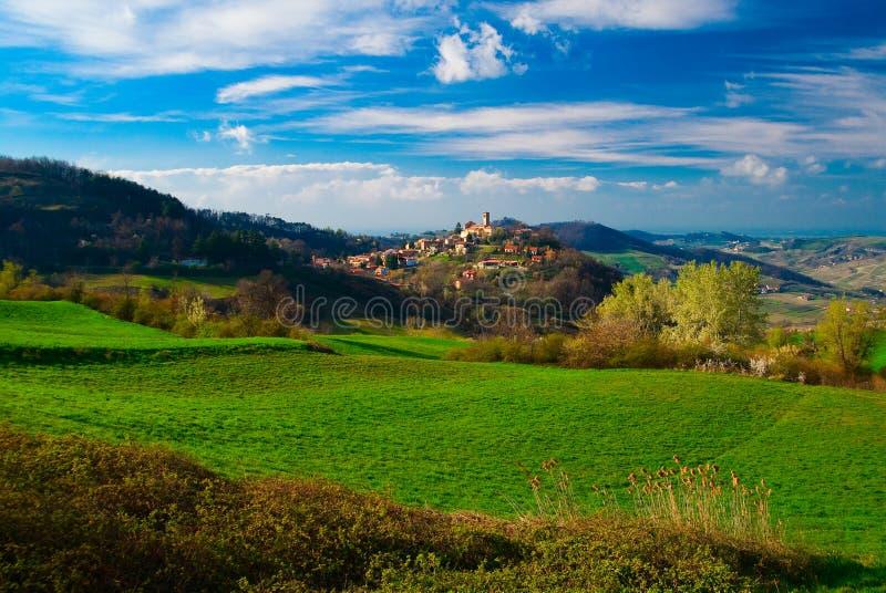 Lombardy region of Italy. Beautiful landscape of Oltrepo Pavese in Lombardy region of Italy stock image