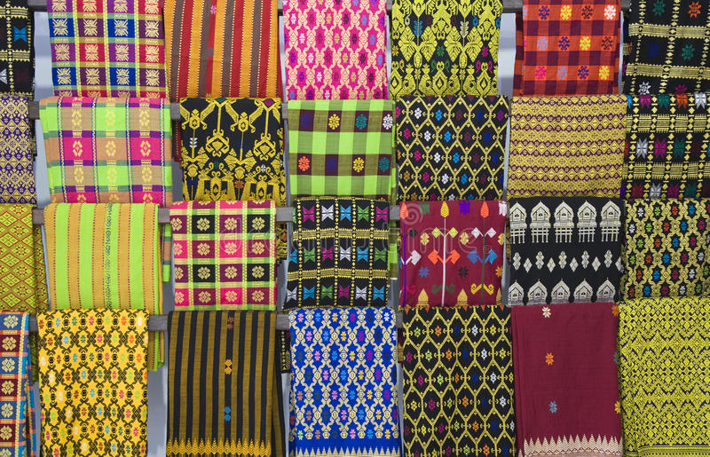 lombok纺织品 库存图片