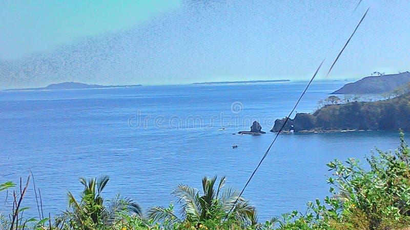 Lombok от края острова стоковое фото rf