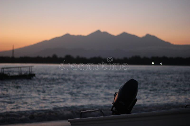 Lombok от края острова стоковые изображения