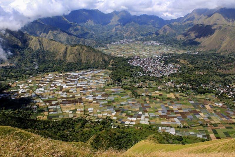 Lombok Indonésia do monte de Pergasingan imagens de stock