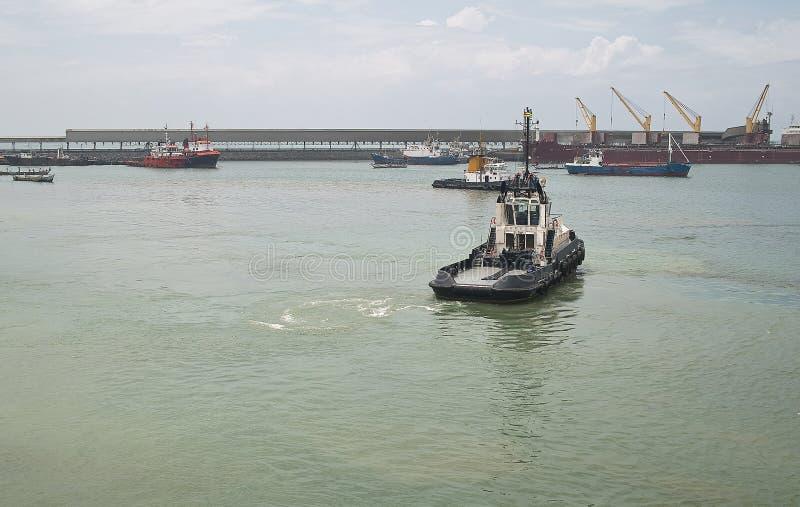 Lome'-Hafen stockfotos