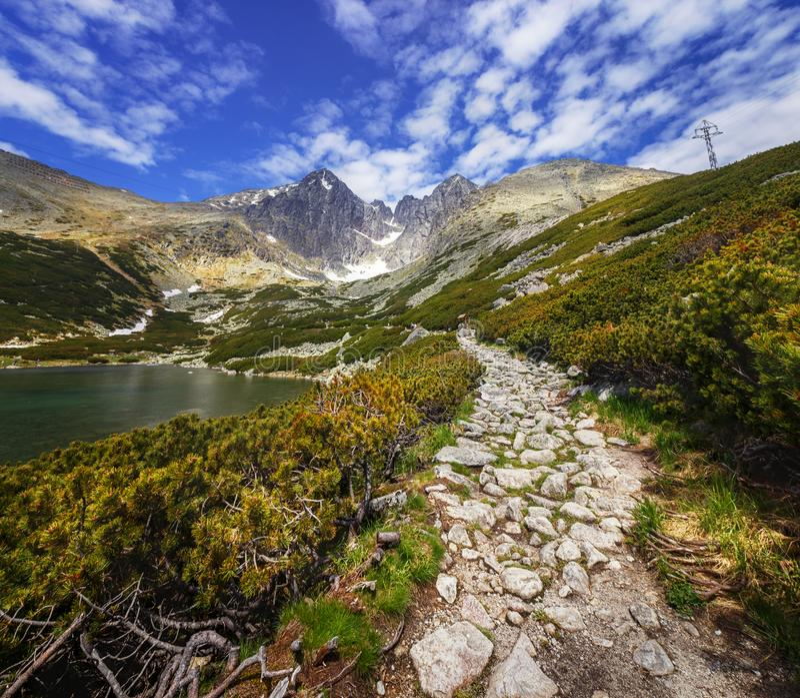 Lomnica Peak - High Tatras - Slovakia stock photo
