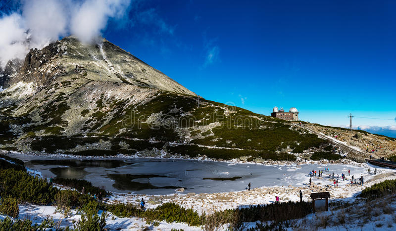 Lomnicky Stit in High Tatras mountains of Slovakia stock photography