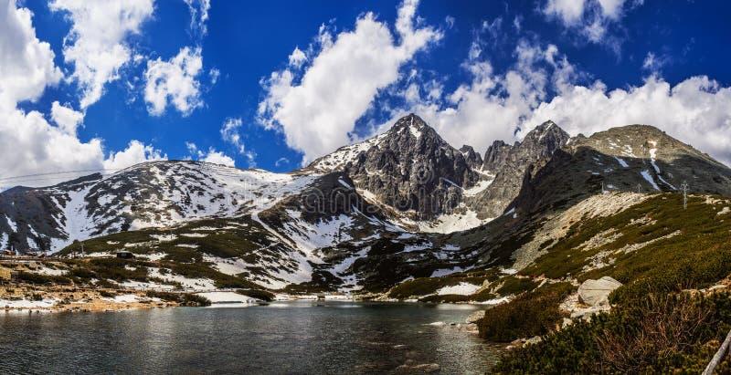 Lomnicky Stit i höga Tatras berg av Slovakien arkivfoto