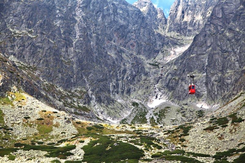 Lomnicky stit - peak in High Tatras mountains royalty free stock image