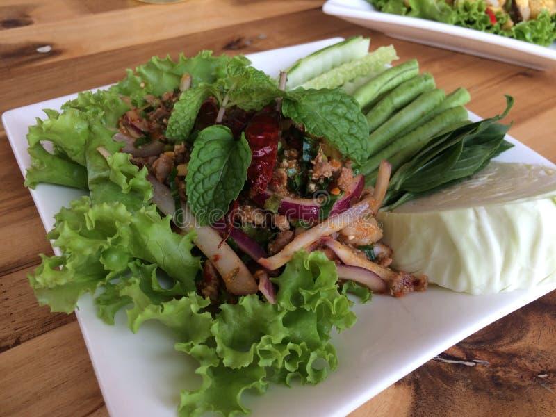 Lomo de CPork, comida de nordeste, cocina tailandesa foto de archivo