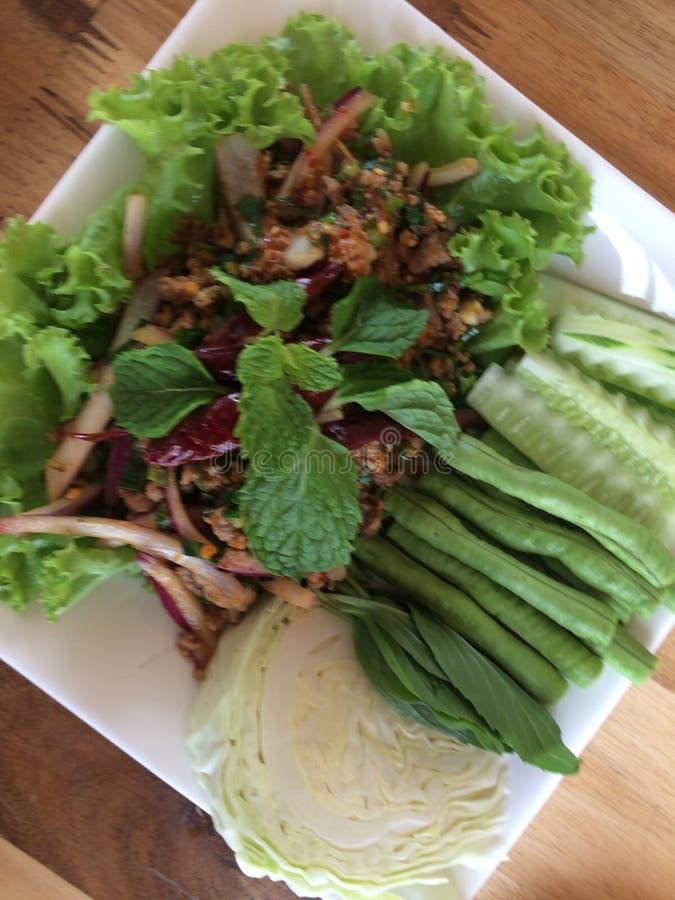 Lomo de CPork, comida de nordeste, cocina tailandesa fotografía de archivo