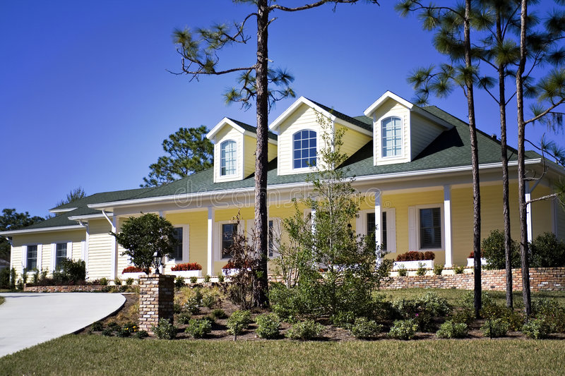 Lomo Home. A Lomo-style photo of an American southern home royalty free stock photography