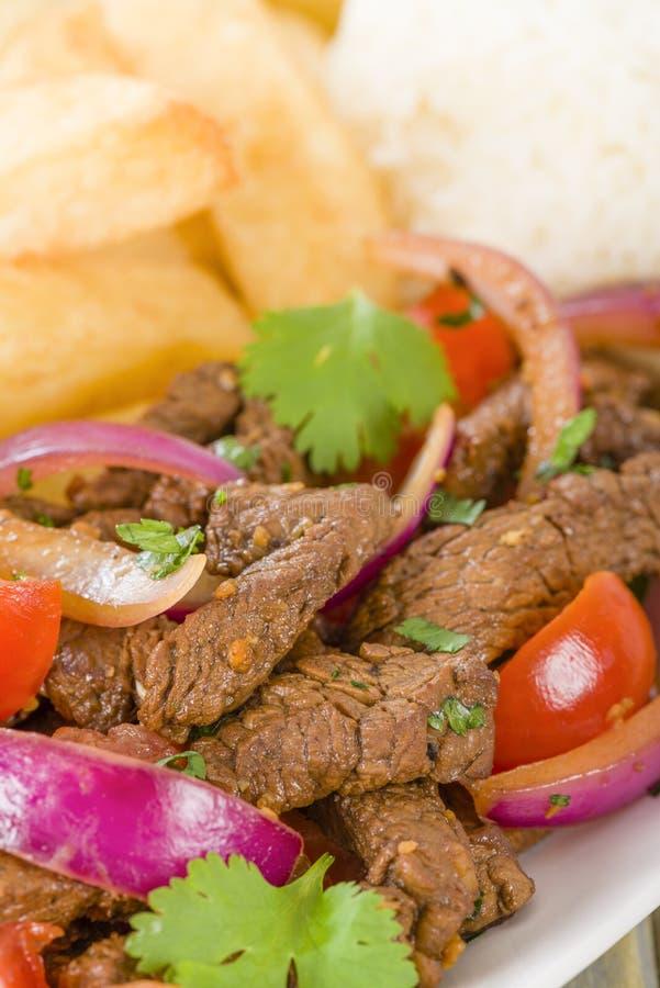 Download Lomo Saltado stock image. Image of national, asian, dinner - 34101361