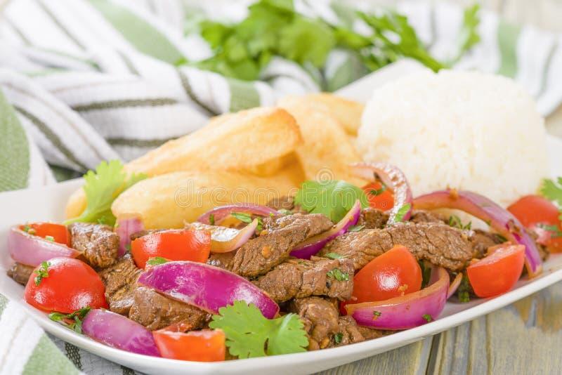 Download Lomo Saltado stock photo. Image of saltado, sirloin, sauce - 34101654