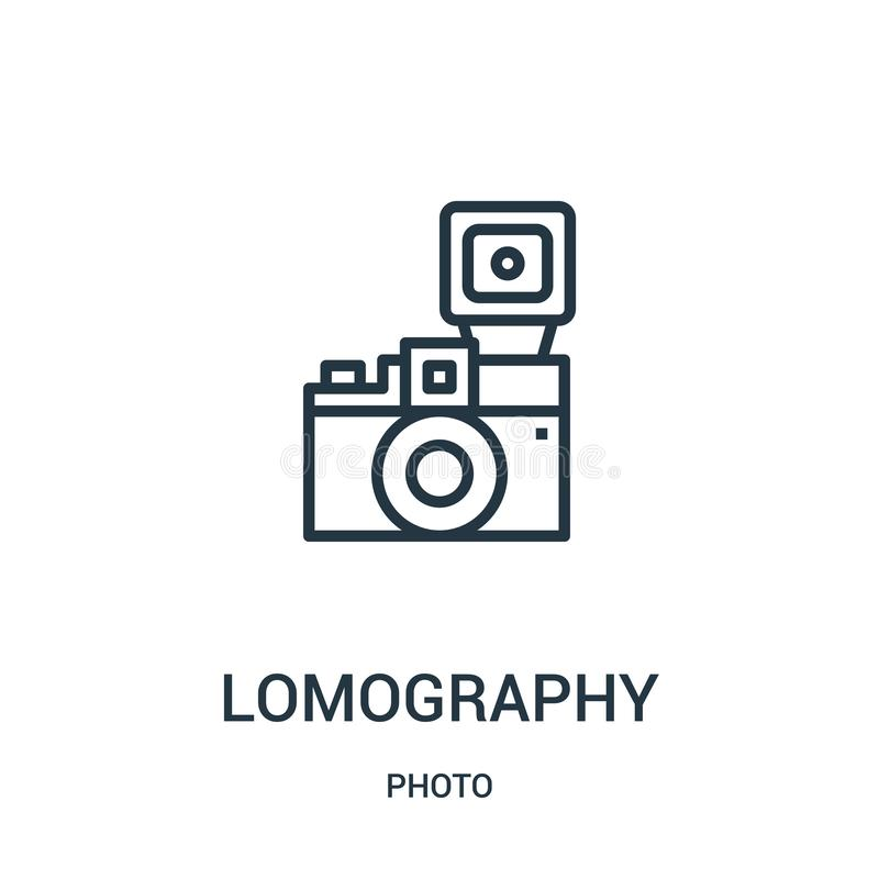 lomography从照片汇集的象传染媒介 稀薄的线lomography概述象传染媒介例证 r 向量例证