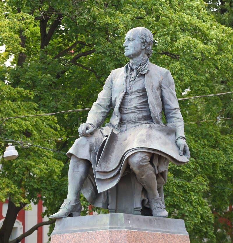 The Lomonosov monument. Lomonosov monument, Universitetskaya embankment Saint Petersburg Russia stock photos