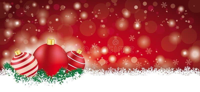 Lon Red Christmas Card ilustración del vector