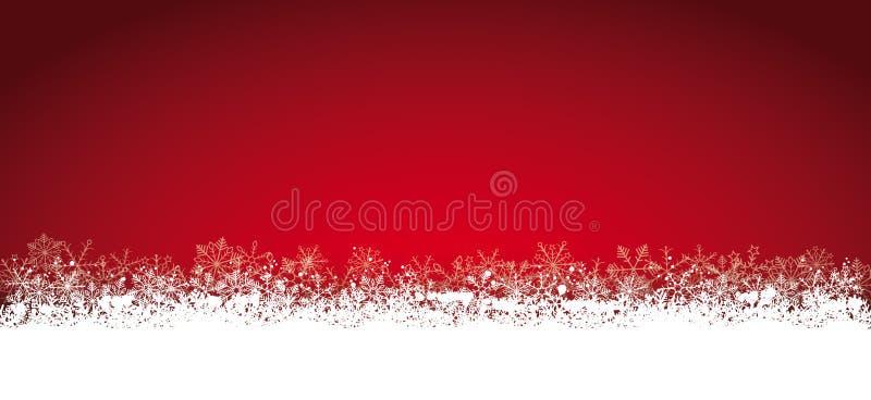 Lon Red Christmas Card Snowflakes illustration libre de droits