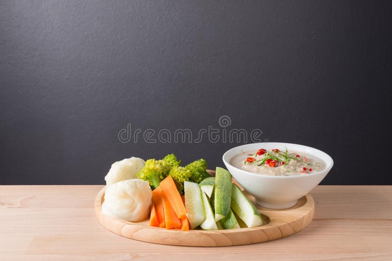 Lon Taochiao: соус и овощ соевого боба окуная стоковое изображение rf