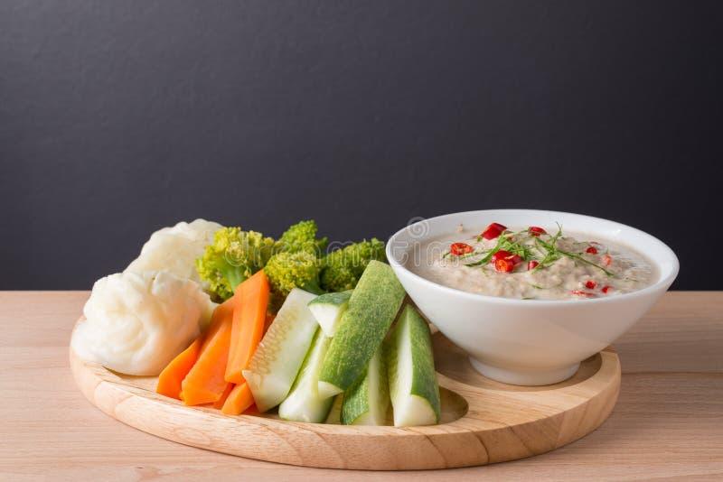 Lon Taochiao: соус и овощ соевого боба окуная стоковое фото rf