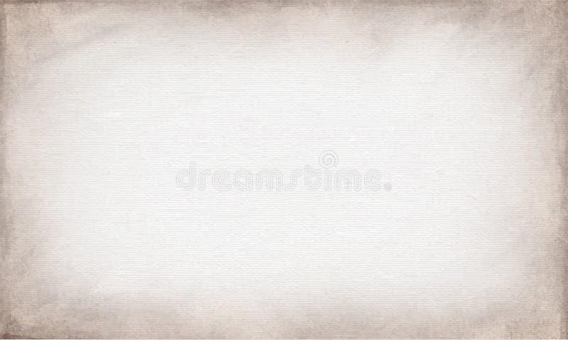 Lona beige horizontal a utilizar como fondo o textura del grunge Sistema del vector foto de archivo libre de regalías