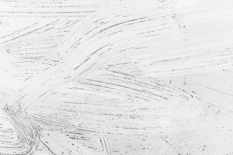 Lona branca abstrata Textured com cursos expressivos da escova fotografia de stock royalty free