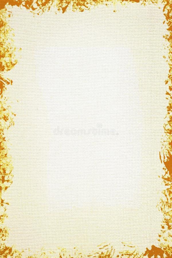 Lona branca com frame do grunge ilustração stock