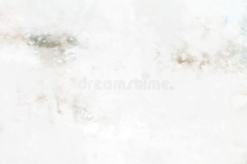 Lona branca do gesso da pintura a óleo do Grunge ilustração royalty free