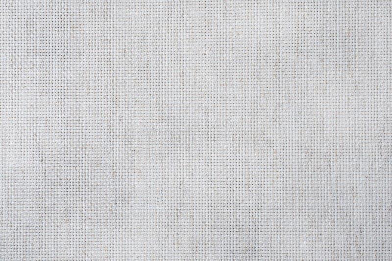 Lona da tela para ofícios transversais do ponto Textura dos tecidos de algodão foto de stock