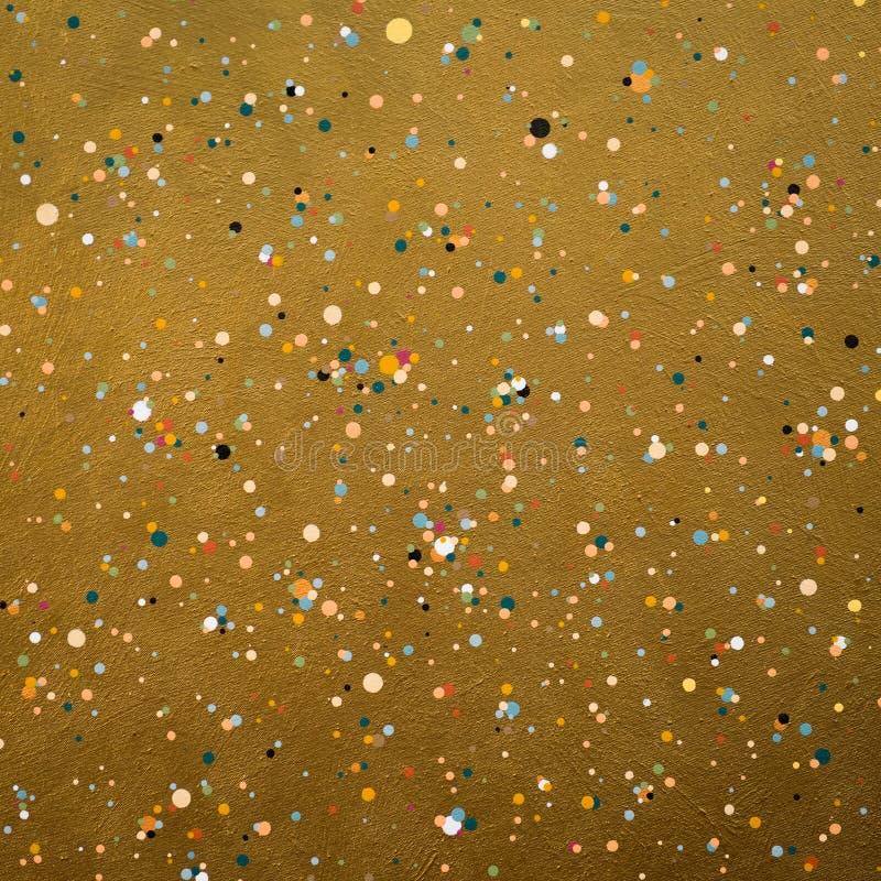 Lona de oro foto de archivo libre de regalías