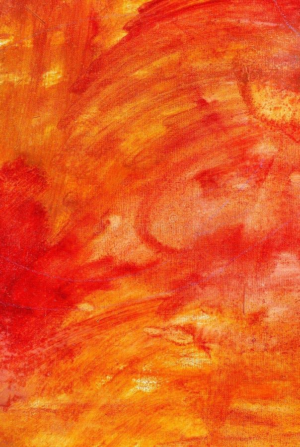 Lona pintada abstracta anaranjada fotografía de archivo