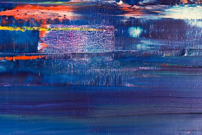 Lona pintada extracto Pinturas de aceite en una paleta fotos de archivo libres de regalías