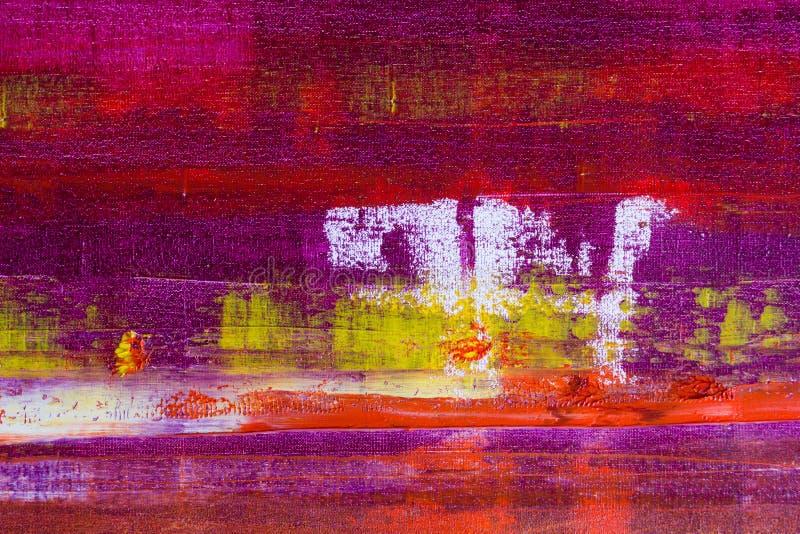 Lona pintada extracto Pinturas de aceite en una paleta imagen de archivo libre de regalías
