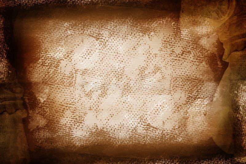 Lona pintada marrom de Grunge ilustração royalty free