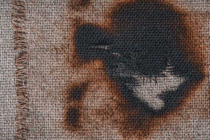 Lona queimada imagens de stock royalty free