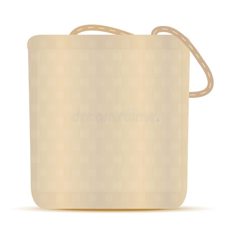 Lona Tote Grocery Bag stock de ilustración