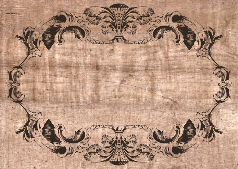 Lona velha do papel do frame ilustração do vetor
