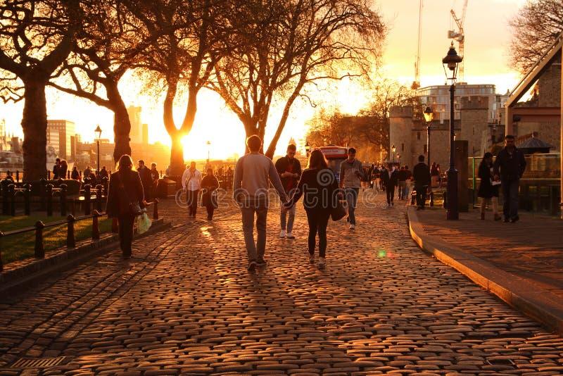 Londen cobbled straat royalty-vrije stock afbeelding