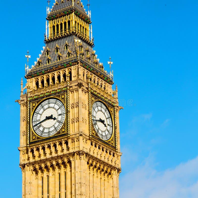 Londen de Big Ben en historische oude bouw Engeland verouderd CIT stock fotografie