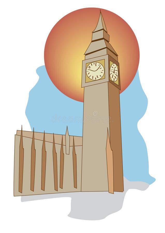 Londen de Big Ben Engeland royalty-vrije stock afbeeldingen