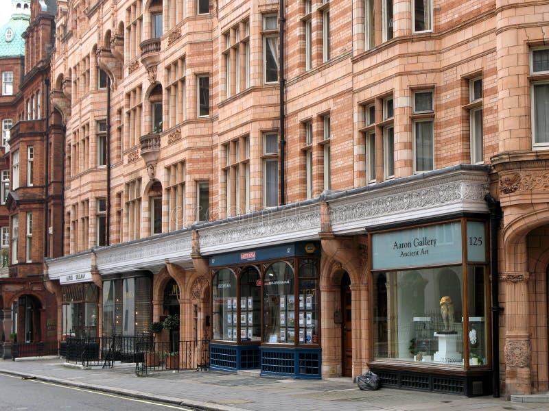 Londen, de Winkels van het District Mayfair stock afbeelding