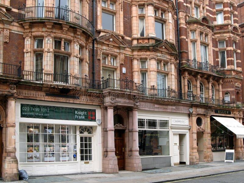 Londen, de Winkels van het District Mayfair royalty-vrije stock foto