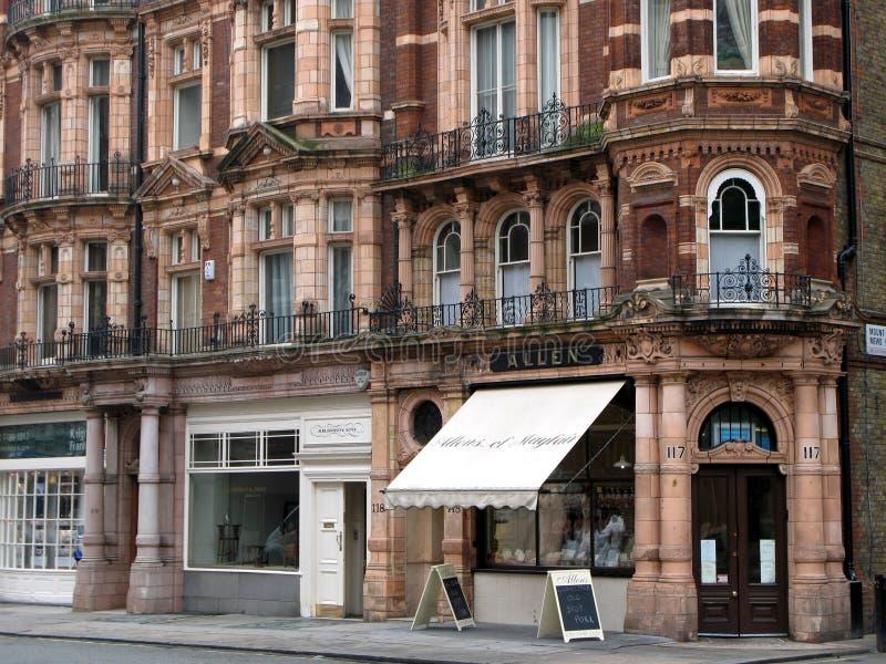 Londen, de Winkels van het District Mayfair royalty-vrije stock afbeeldingen