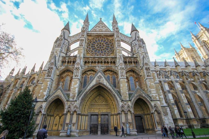 Londen, 8,2013 Engeland-December: Londen Westminster Abbey St Margaret Church is beroemdst in Engeland stock afbeelding