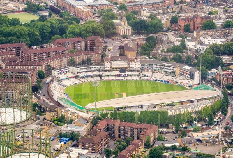 LONDEN, ENGELAND - JUNI 2015: Luchtmening van Kia Oval Cricket royalty-vrije stock foto's