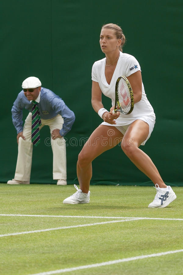 LONDEN, 22 ENGELAND-JUNI, 2009: Tennisspeler Petra Cetkovska binnen stock foto