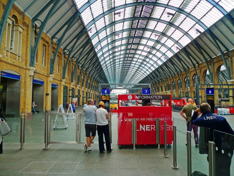 Londen, Engeland, Koningen Dwarsstation royalty-vrije stock fotografie