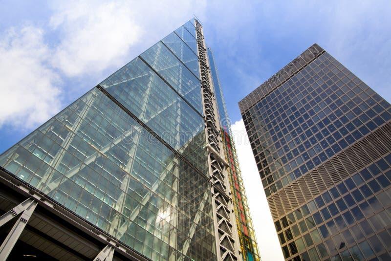 LONDEN, HET UK - 24 APRIL, 2014: Stad van Londen één van de belangrijke centra van globale financiën, hoofdkwartier voor belangri royalty-vrije stock afbeeldingen