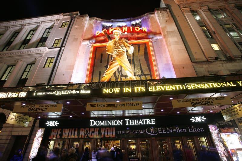Het Theater van Londen, het Theater van de Heerschappij stock afbeeldingen