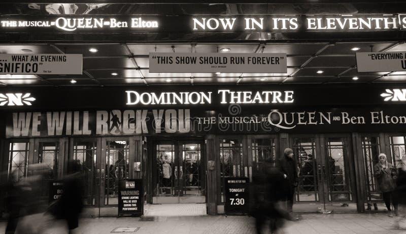 Het Theater van Londen, het Theater van de Heerschappij stock fotografie